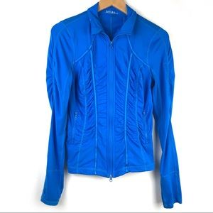 Zella Athletic zip front jacket with thumb holes